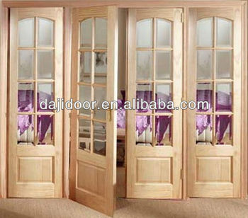 8 Lites Gl Wooden French Balcony Door Designs For Home Dj-s430 ... on