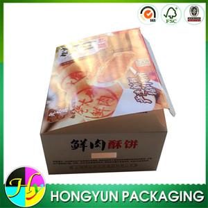 Custom printed cardboard fried chicken packaging boxes