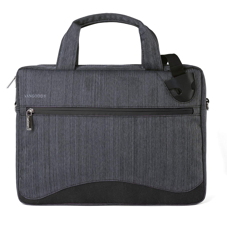 "Vangoddy Wave 13 Laptop Shoulder Bag (Black) for Lenovo Yoga 720 12.5"" 13.3"" / Yoga 920 13.3"" / IdeaPad 120S 11.6"" 14.1"" / ThinkPad X280 12.5"" / Yoga 370 13.3"" / X1 Carbon 14"" / ThinkPad 25 14"""