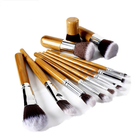 Popular 11pcs synthetic hair bamboo handle makeup brush set