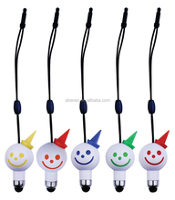 Multicolor smile design lovelty mini touch pen gift pen with christmas gift
