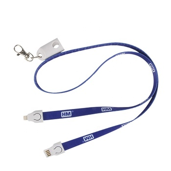 Promotional Fast Date Charging Cable Lanyard Phone Charging Cable With Logo