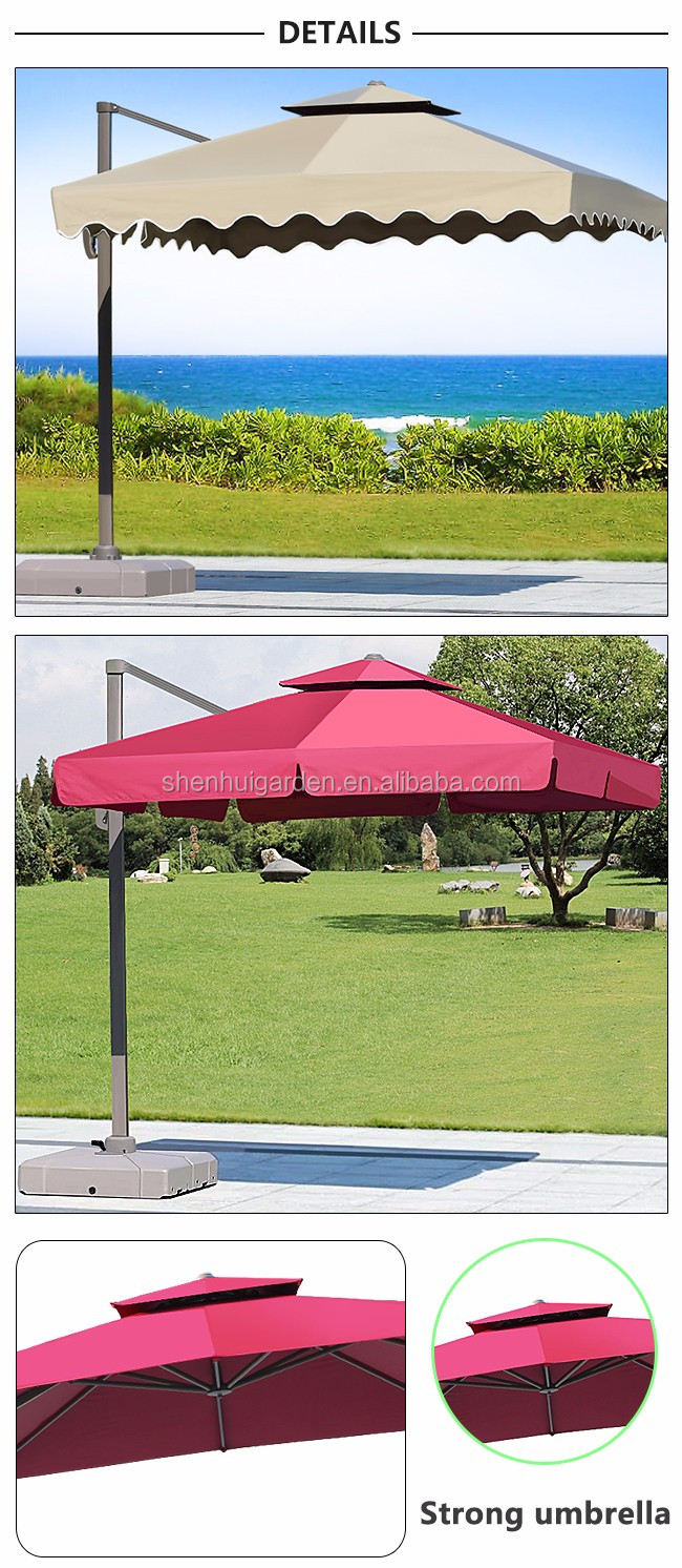 300cm banana hanging outdoor garden sun beach umbrella