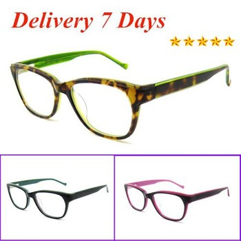 New Design Men Fashion Plastic Optical Frame Green Demi Color Eye ...