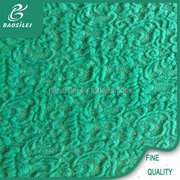 Surface 3d lace fabric nylon & acrylic swiss voile lace wholesale for emerald green lace dress