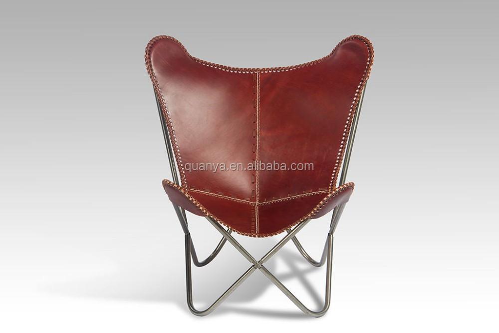 Moderne Leder Klapp Schmetterling Lounge Stuhl Entspannende Stuhl Für  Wohnzimmer