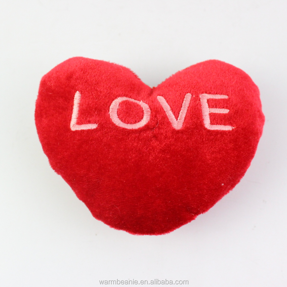 Valentine Plush Heart Keychain,soft Plush Heart Toy,red Heart Stuffed Plush  Toys