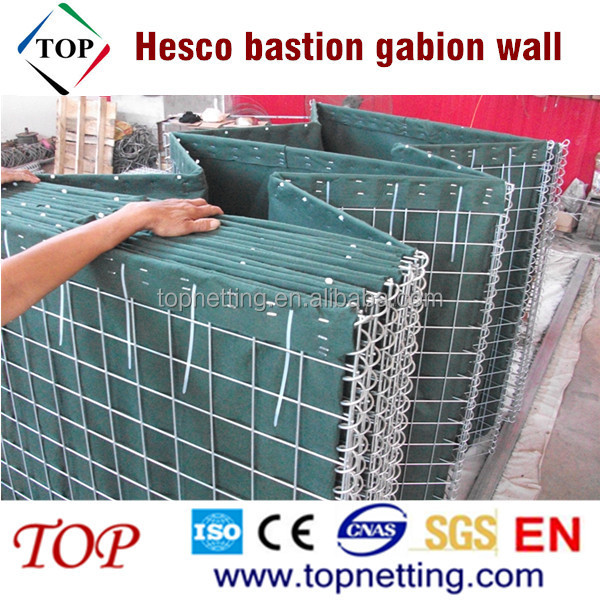 Hesco bastion gabion wall for coastal erosion