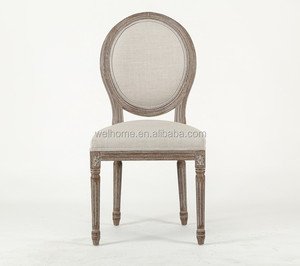 French Rustic antique Oak wood louis chair