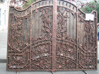 good workmanship wrought iron driveway hand forged steel gates