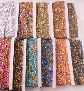 15mm mutil crystal rhinestone ribbon trimming banding,rhinestone chain for brand kids jeans trousers decoration