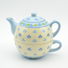 Wholesale hand painted ceramic tea set for one in European style