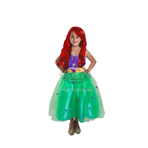 Little Girl Wedding Green Mermaid Cosplay Costume for Halloween Party