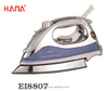 Steam/ dry/spray iron with spraying colour and chromed handle