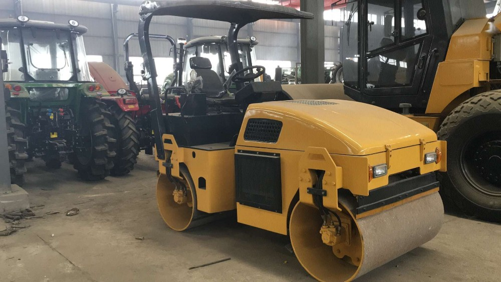 3ton Hydraulic double drum vibratory road roller