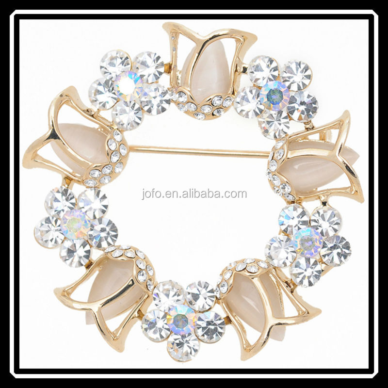2015 New Arrival Rhinestone Crystal Lily Flower Brooch For Wedding Bridal Top Quality Brooch