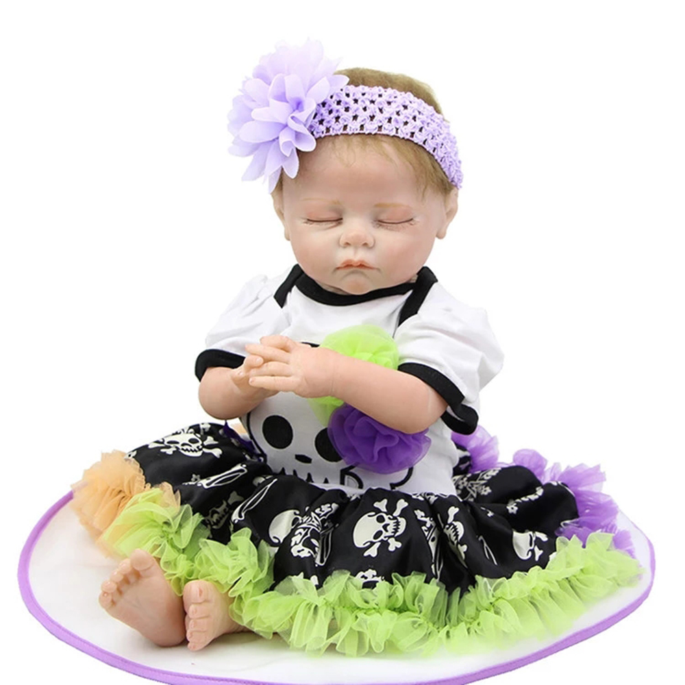 Cute 20 Inch 50 cm Lifelike Reborn Baby Girl <strong>Dolls</strong> Soft Silicone Vinyl Fashion Babies <strong>Doll</strong> Toy Birthday Christmas Gif