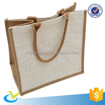 Wholesale cheap durable custom printed used burlap jute bag