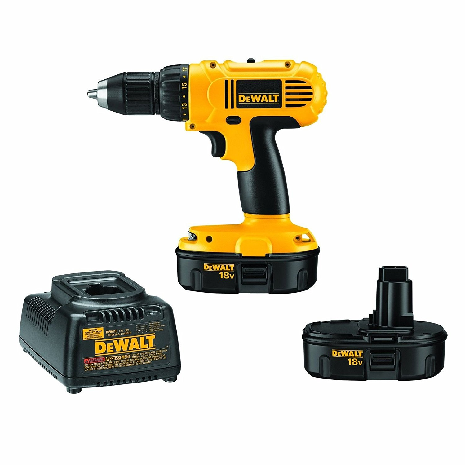 DEWALT DC970K-2 18-Volt Drill/Driver Kit w/ 2 Batteries, Charger, and Bag -- New /RM#G4H4E54 E4R46T32507300