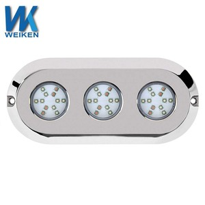 WEIKEN 180W IP68 marine led light navigation ocean underwater led boat lights Swimming pool light