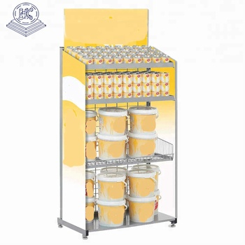 durable large capacity canned goods display rack