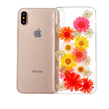 China Factory Transparant Clear TPU Gel Pressed Flower Case For Iphone 6 6S 7 8 Plus X