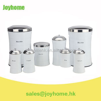 Fabulous White Colored Stainless Steel Kitchen Canister Set Of 8 Buy Canister Set Stainless Steel Kitchen Canister Set White Colored Canister Sets Product On Best Image Libraries Thycampuscom