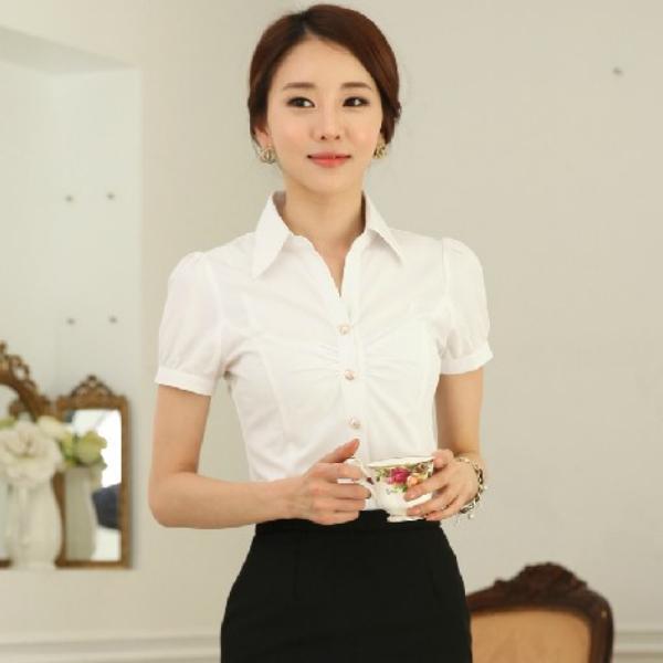 Venta al por mayor camisa mujer uniformes compre online Diseno de uniformes para oficina 2017