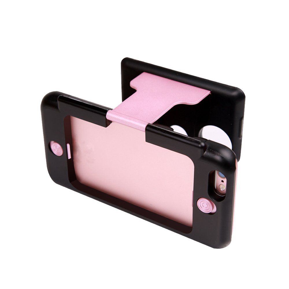 Rose Gold - Mini 3D Virtual Reality Glasses Portable VR Glasses Phone Case 3D Viewer Phone Case Handheld HD VR Virtual Reality 3D Glasses for iPhone 6 6s (4.7in)