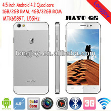 JIAYU G5 MTK6589T Quad Core phone 4.5 Inch Retina Gorilla Screen Android 4.2 2GB RAM 32GB ROM 13.0MP Camera 3G GPS Smart phone
