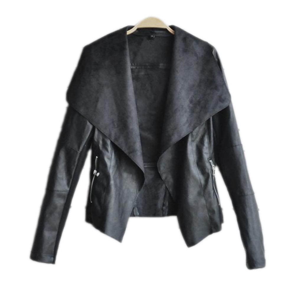 Весна осень европейский и америка женщины пальто приталенный тонкий короткая полиуретан кожа куртка женщины одежда Chaquetas Mujer