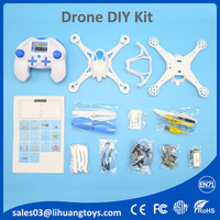 2017 drone kit assembled by consumer 2.4G rc drone quadcopter toys hobbies