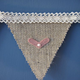 Lace and Hessian Burlap Wedding Bunting Garland Banner 20 Flags Shabby Chic