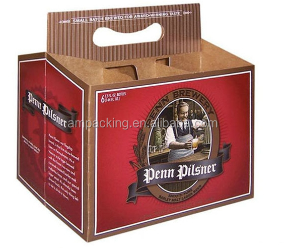 6 pack custom wine beer bottle carrier