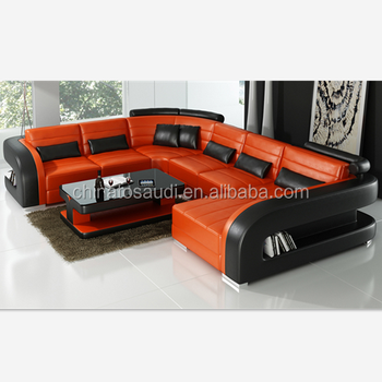 Lifestyle Furniture Modern Living Room Real Leather Sofa