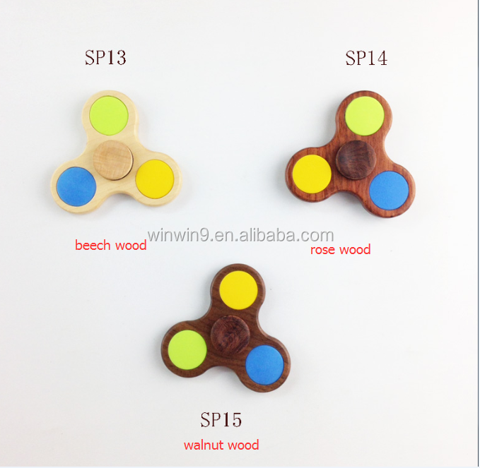 Hot Sale Wood Spinner Finget Toy Real Wood Hand Spinner for Adult