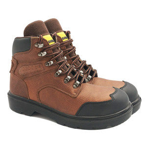 Flexibility Metal Leather Industrial Work Safety Steel Toe Boot