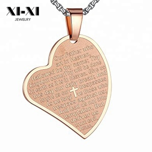 New Men and Women Amulet Religious Accessories Bible Text Necklace Pendant