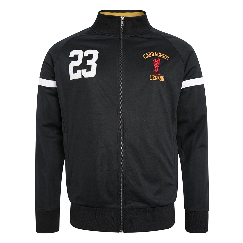 60db49b60ec Get Quotations · Liverpool FC LFC Mens Black Jamie Carragher Full Zip Sport  Jacket NWT Official