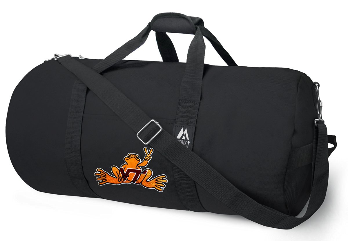 OFFICIAL Virginia Tech Peace Frogs Duffle Bag or Virginia Tech Peace Frog Gym Bags Suitcases