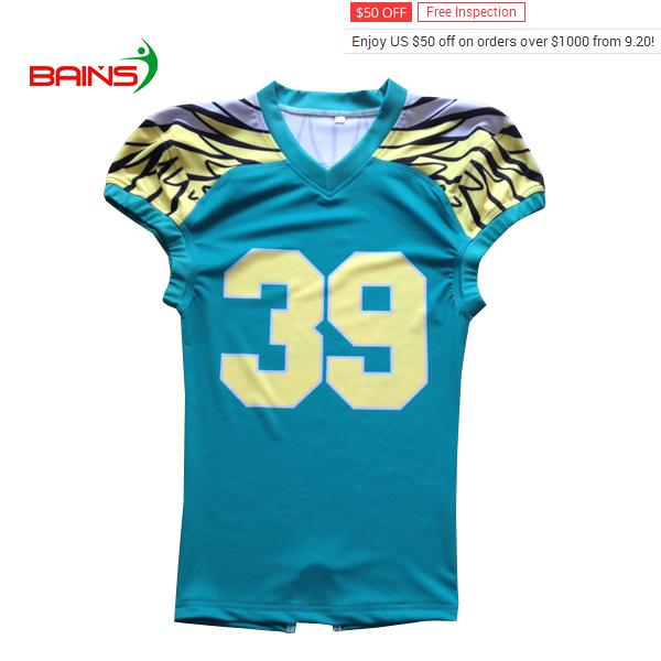 2018 venta al por mayor personalizado Camisetas fútbol americano jersey de  fútbol americano de 41b934d2b57be