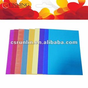 Color s flute gift packaging corrugated paper roll