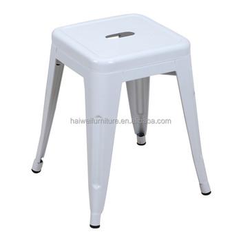 Outdoor Metal Garden Stool White Bar Chair Industrial Metal Bar Stool