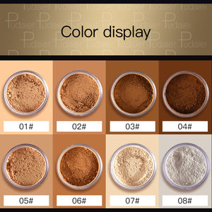 Pudaier Brand Oil Control Powder Makeup Long Lasting Crystal Bronzing powder Mineral Dark Skin Contour Loose Face Powder