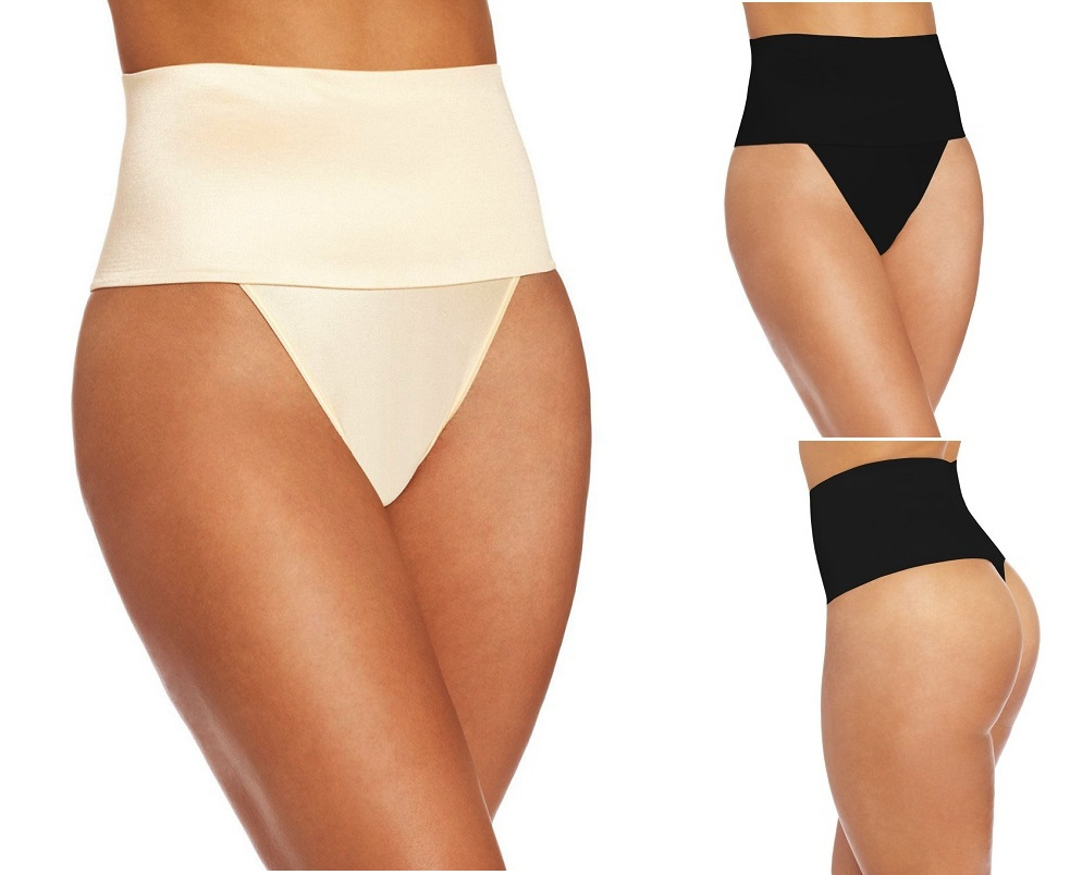426091fa5728 Get Quotations · High Waist Women Sexy Shaping Control Abdomen Hip Lutun  Rubber Pants Body Shaper thong Underwear butt