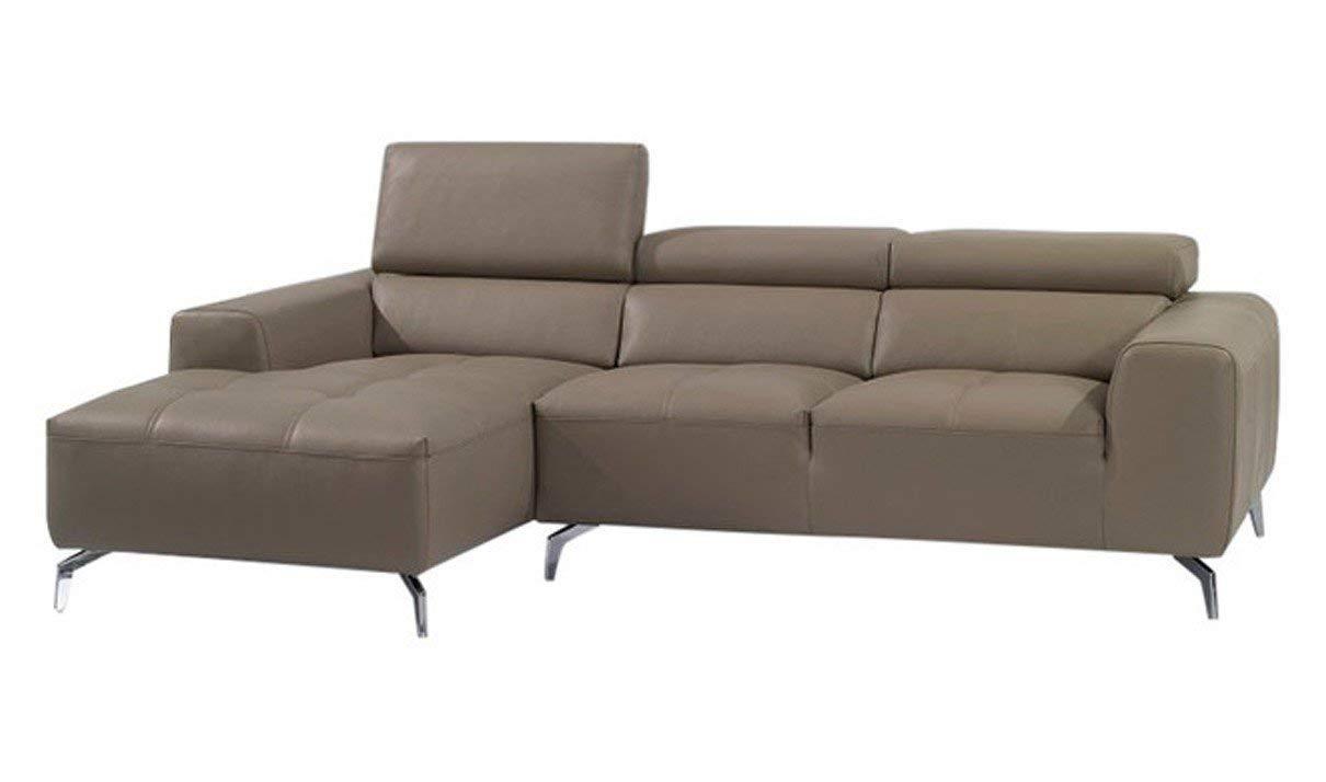 J&M Furniture A978B Italian Leather Left Facing Sectional Sofa in Burlywood