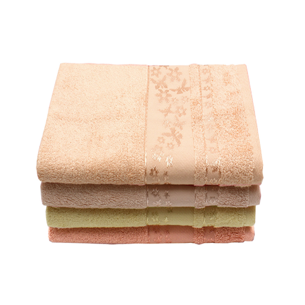 High Quality Solid Color Dobby Jacquard Bamboo Bath Towel