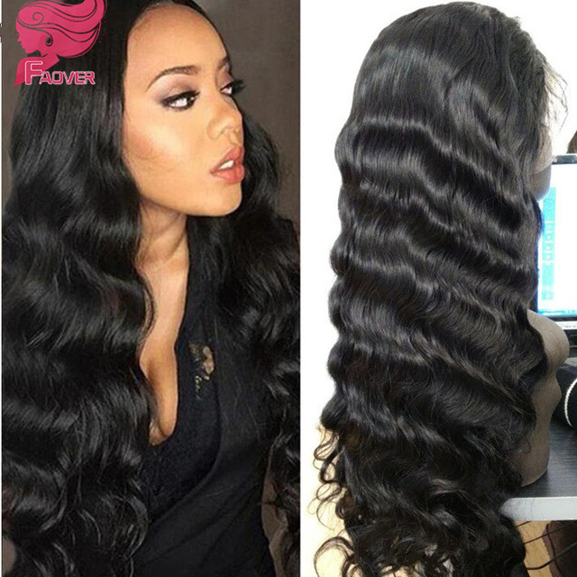 top grade brazilian virgin hair full lace wig 130% density body wave lace front wig in big stock