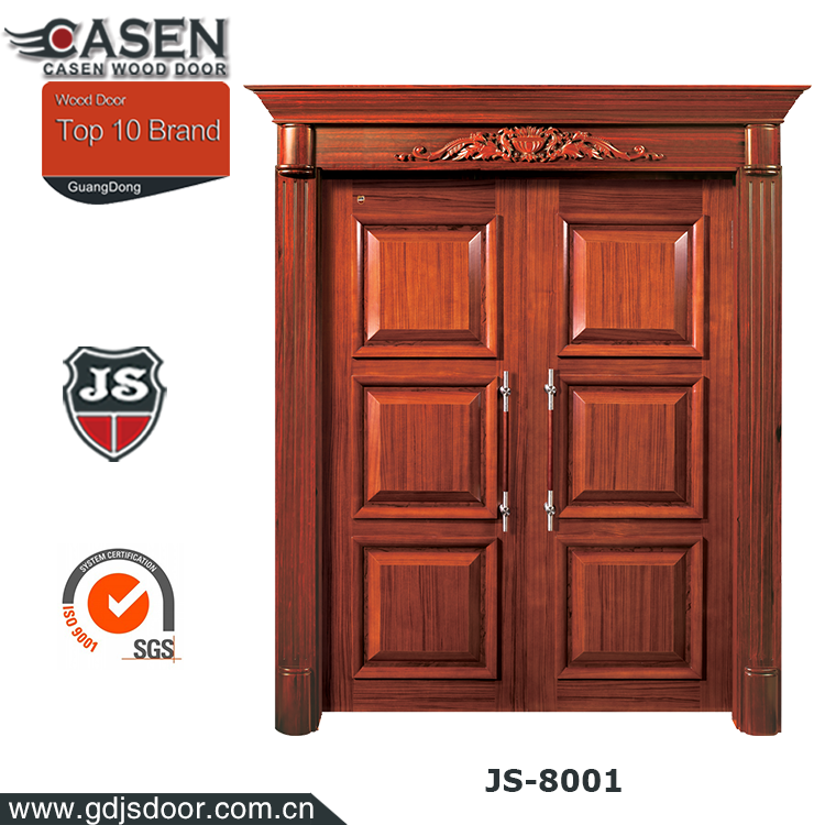 European Luxury Style Door Models Exterior Wood Panel Main Double Entry Doors