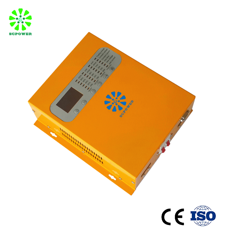80a 100a 48 volt solar charge controller with lcd led for air conditioner